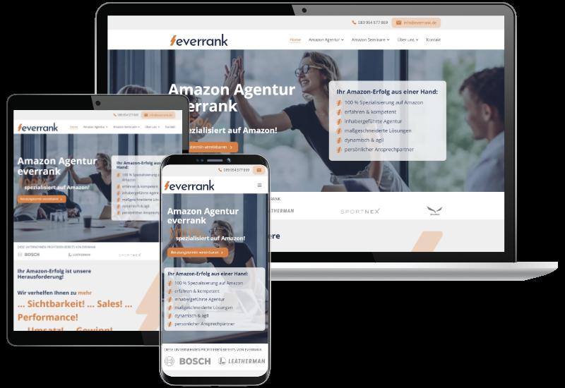 Website für Amazon Agentur aus München
