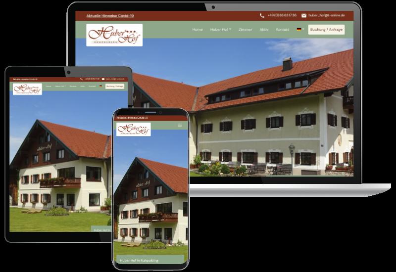 Neue Website Huber Hof