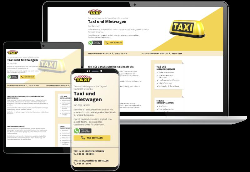 Website für Taxiunternehmen