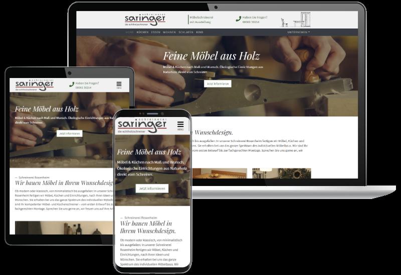 Webdesign Referenz Schreinerei Saringer