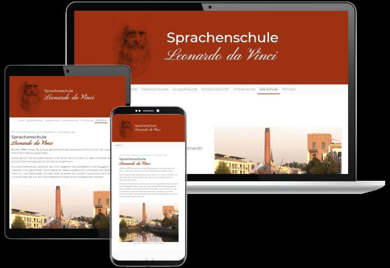 Webdesign Sprachenschule Leonardo Da Vinci